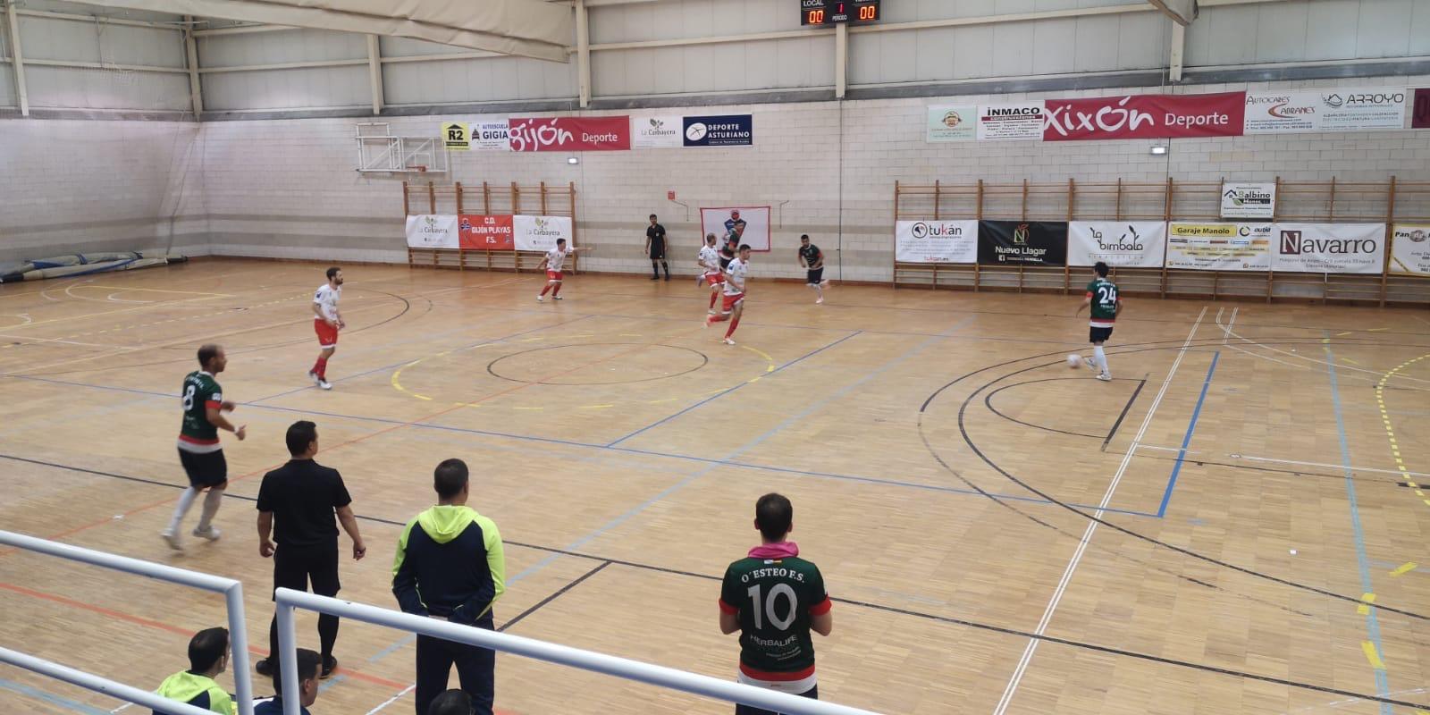El O Esteo logra su primer partido de la temporada en Gijón