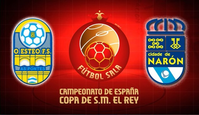 O Esteo y Cidade de Narón se ven las caras esta noche en la Copa del Rey